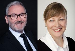 Frau Kerstin Metzler und Herrn Harald Hilbert